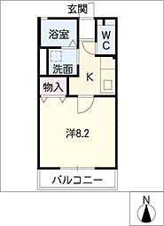 シャングリラ竹の山[1階]の間取り