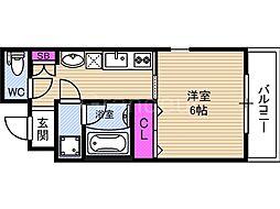 ウイルコート鶴見[4階]の間取り