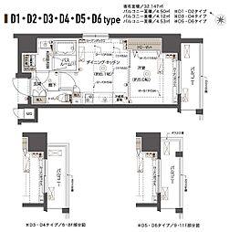 ZOOM西五反田[6階]の間取り