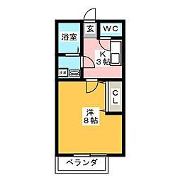 駅PartII[3階]の間取り