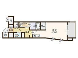 レジディア靭公園[7階]の間取り