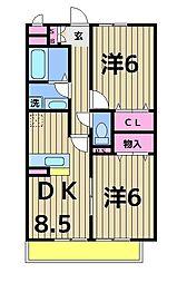 カーサニコル[1階]の間取り