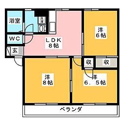 ラ・フェーリアI[1階]の間取り