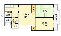 グリーンマンション[2階]の間取り