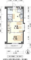JR東北本線 太子堂駅 徒歩13分の賃貸マンション 2階2Kの間取り