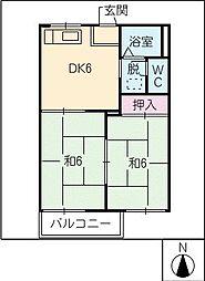リバーサイドKENKOH[1階]の間取り