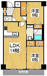 セジュール東所沢[1階]の間取り