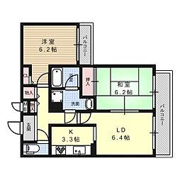 CREA MAISON 氷室[2階]の間取り