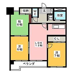 第7サワータウン[3階]の間取り