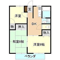 マイステージ8番館 1階3DKの間取り