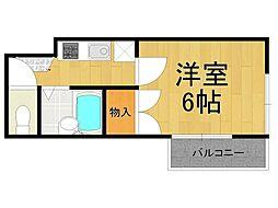 兵庫県西宮市甲風園1丁目の賃貸アパートの間取り