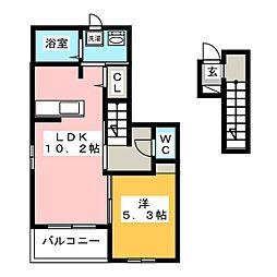 ベル・エスポワール[2階]の間取り