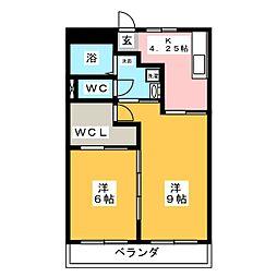 IBハイツ[3階]の間取り