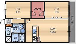 シティハイツ武庫之荘[5階]の間取り
