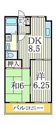 千葉県我孫子市柴崎台2丁目の賃貸アパートの間取り