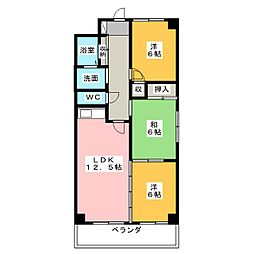 ディアコート片坂[1階]の間取り