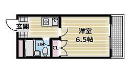 OMレジデンス八戸ノ里[608号室]の間取り