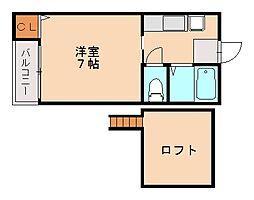 アメニティ六本松ステーション[2階]の間取り