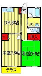 サンモール菅井[101号室]の間取り