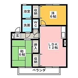 カイザークローネI[1階]の間取り
