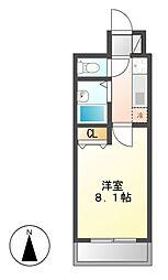 キャッスル(CASTLE)ワタナベ[3階]の間取り