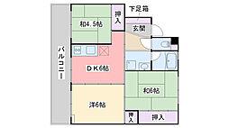 福岡県糸島市二丈深江の賃貸マンションの間取り