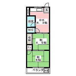 コーポハヤシ[2階]の間取り