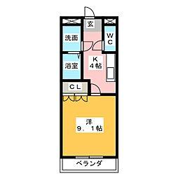 サンルーラル[2階]の間取り