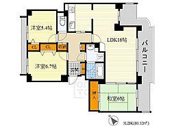 メゾン千里桃山台[4階]の間取り