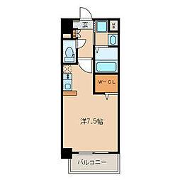 Z・R東別院 2階ワンルームの間取り