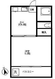 サンハイツK[2階]の間取り