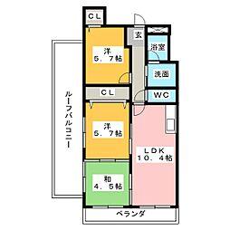 ロックガーデン北棟[5階]の間取り