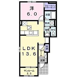 ラパンIII 1階1LDKの間取り