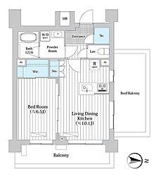東京メトロ丸ノ内線 西新宿駅 徒歩7分の賃貸マンション 5階1LDKの間取り