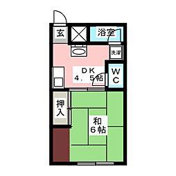 コーポ大園I[1階]の間取り