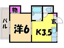 愛媛県松山市味酒町2丁目の賃貸マンションの間取り