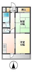 パインハウス[3階]の間取り
