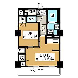 レジデンスカープ札幌[4階]の間取り