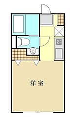 神奈川県横浜市磯子区森5丁目の賃貸アパートの間取り