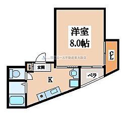大阪府東大阪市俊徳町2丁目の賃貸マンションの間取り