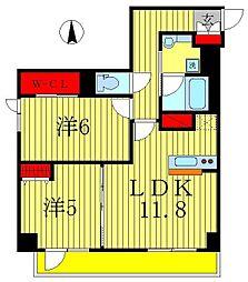 仮)八州ビル 新築工事[6階]の間取り