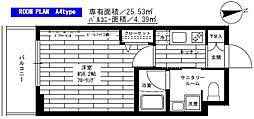 ステージファースト板橋桜川[8階]の間取り