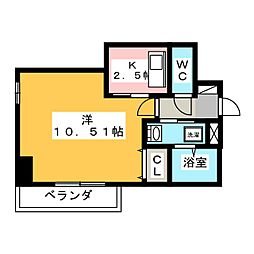 ビッグ・ビー宿郷II[4階]の間取り