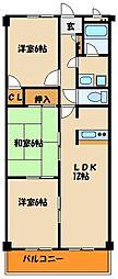 ファミリーマンション[3階]の間取り
