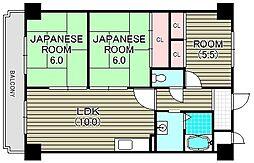 クリーン・ピア・フジ[4階]の間取り