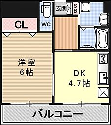YUWA Seta[802号室号室]の間取り