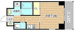 Lui Chance III(ルイシャンスIII) 4階1Kの間取り