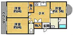 ファーシルマンション[3階]の間取り