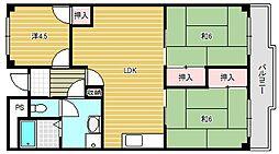 メゾンカーサー1号館[1階]の間取り