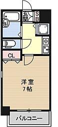 リーガル京都五条烏丸[701号室号室]の間取り